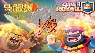 CLASH OF CLANS VS CLASH ROYALE RAP (VIDEOCLIP)