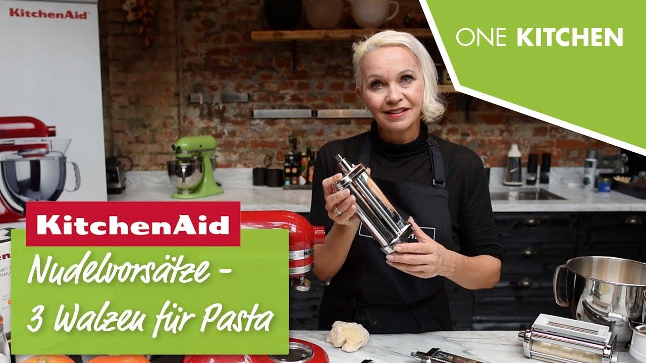 Kitchenaid Kuchenmaschine Nudelvorsatz 5ksmpra Pasta Selbstgemacht By One Kitchen Youtube