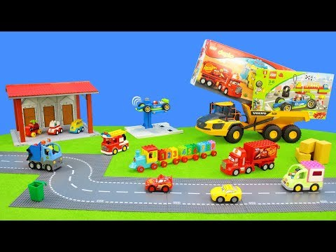 Lego Duplo Animals, Food, Cars, Motorcycle & Fire Engine | Playsets For Kids | Color Toys Unboxing