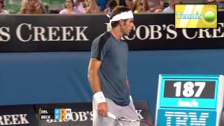 [Juan Martin Del Potro] 4 aces in a row