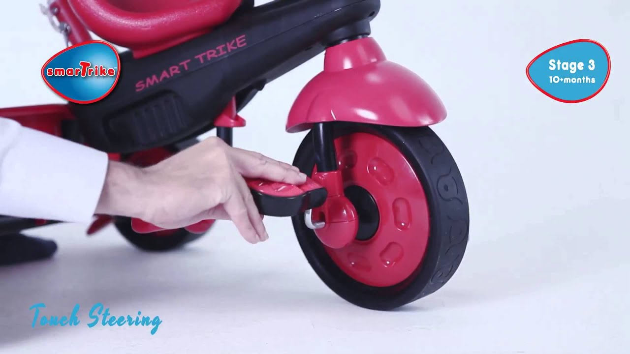 Smart Trike Roze Tricicleta Smart Trike Safari Touch Steering 4 In 1