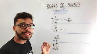 REGRA DE SINAIS NA DIVISÃO - Dica rápida e especial