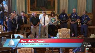 Sen. Proos honors local good Samaritans for saving state trooper