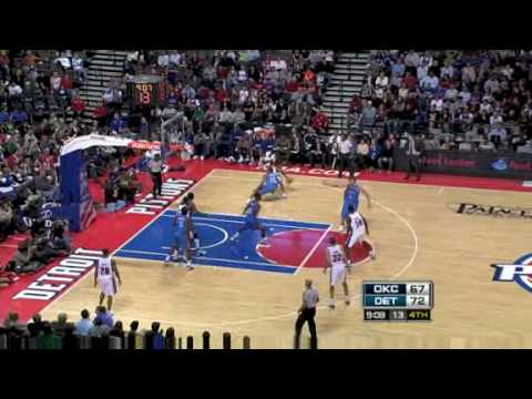 Detroit Pistons vs Oklahoma City Thunder (Allen Iverson hits Game Winner) 12/26/08