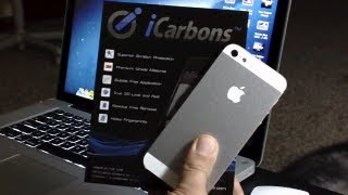 iPhone 5 iCarbons Skin Installation & Review - Two/Tone - SE Aluminium/White Front + Back + Sides