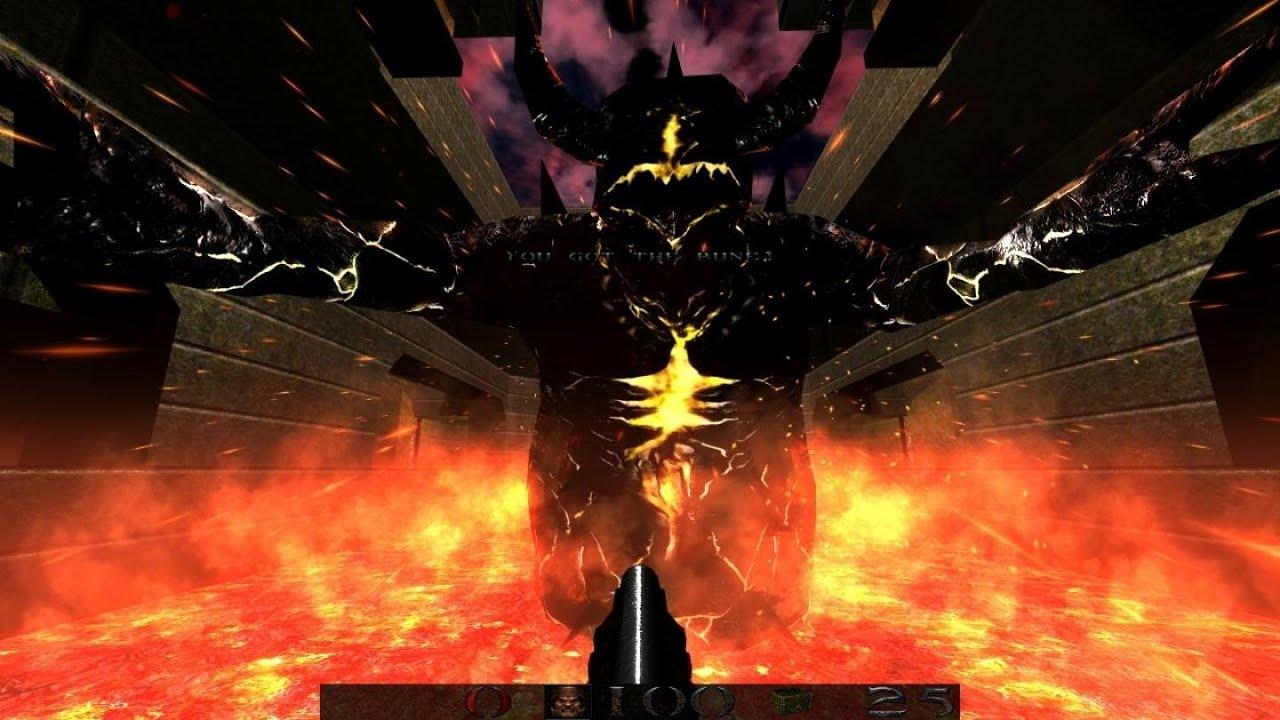 Quake 1 Epsilon mod last level, final boss fight and ... Quake Chthon