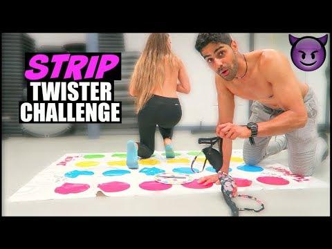 STRIP TWISTER CHALLENGE w/ MODEL!! (18+)