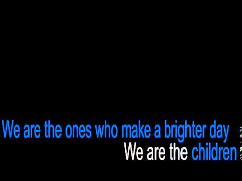 We Are the World 25 For Haiti   Karaoke Instrumental Lyrics