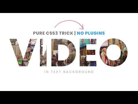 How To Place VIDEO Inside Text | Html5 CSS3 Tutorial