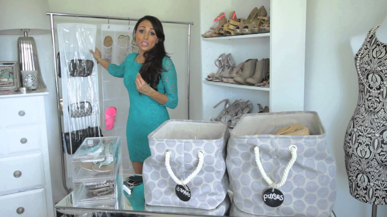 Storage Ideas For Shoes U0026 Purses : Fashion U0026 Style Tips   YouTube