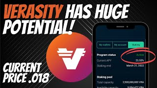 Verasity (VRA) - Staking For A Passive Income   25.55%   Price Target