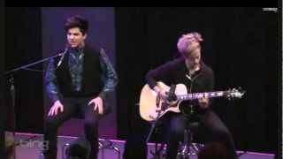 ПРЕМЬЕРА Adam Lambert Never Close Our Eyes Acoustic 25 03 2012 Mp4