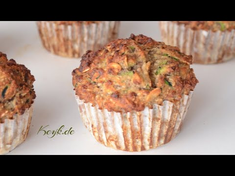 Healthy Zucchini Oat Muffins moist, hearty and gluten-free muffins, perfect as a breakfast muffin