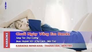 Chuỗi Ngày Vắng Em Remix Karaoke Nhạc sống
