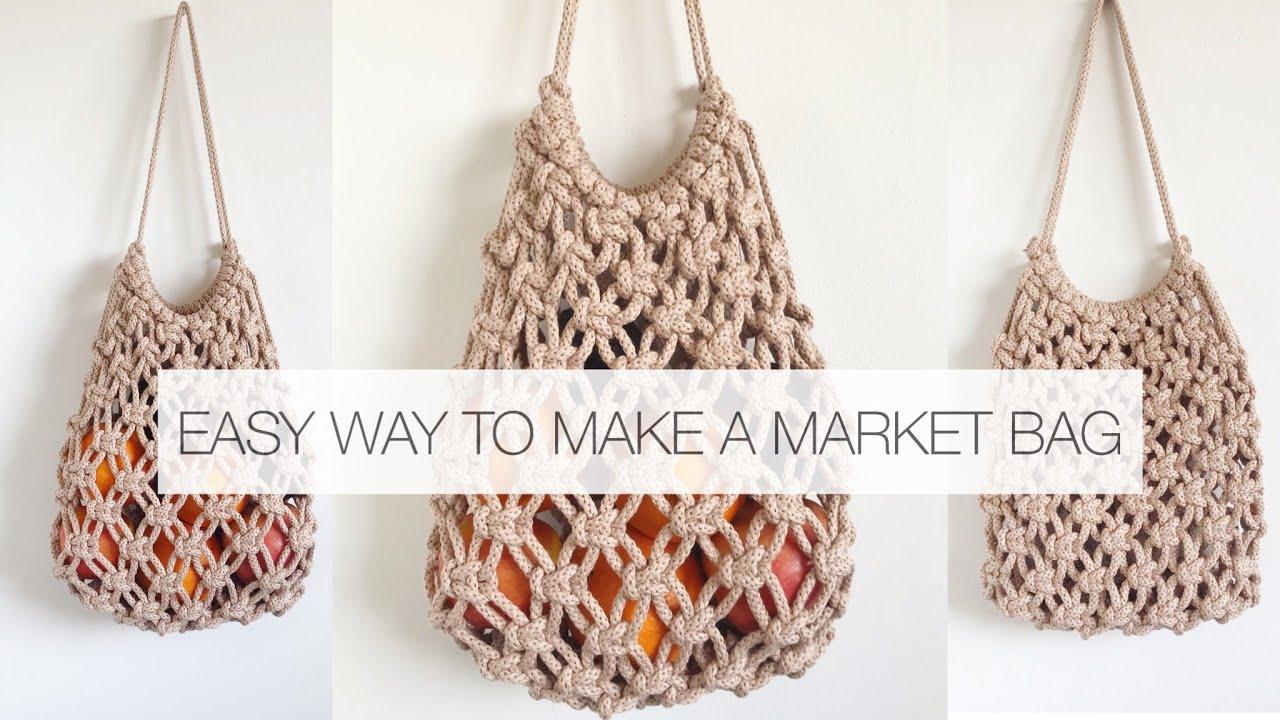 Diy Market Bag Easy Macrame