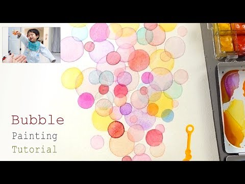 Bubble Painting Techniques | Basic Easy Drawing Video for Beginners