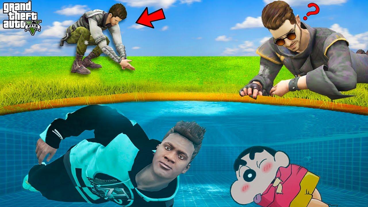 Download Franklin & Shinchan Hiding Underwater To Win $1,000,000 | Underwater Hide And Seek In GTA 5