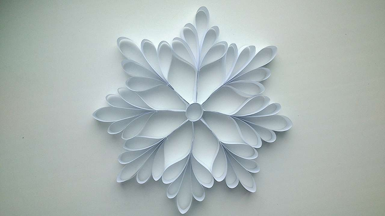 paper snow flake Folding and cutting paper snowflakes is a common holiday craft idea that everyone, young and old, can enjoy creating a paper snowflake with an even number of sides is fairly easy, but you can really impress your friends and family by creating a five-pointed snowflake here's how you do it.