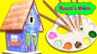 DIY Birdhouse | Kids crafting with Hazel's Mom | Learning Colors and Shapes