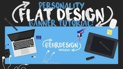 Photoshop Tutorial: Personality Flat Design Banner!