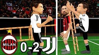 AC Milan vs  Juventus 0-2 | Parody goals | ⚽ Mandžukić ⚽ Ronaldo