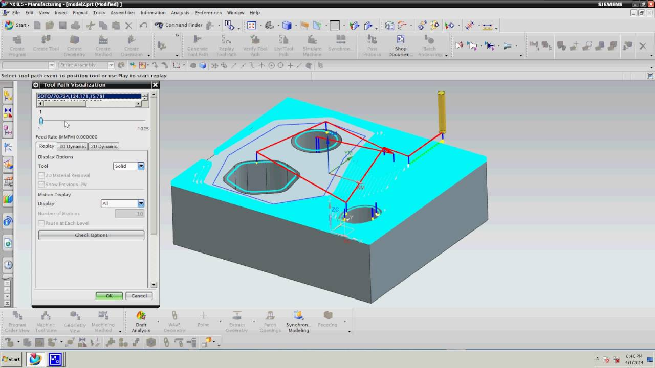 Siemens nx | unigraphic manufacturing tutorial: end step youtube.