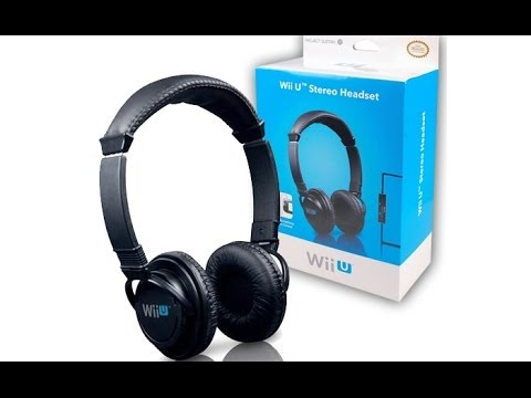 wii u stereo headset unboxing mini test review. Black Bedroom Furniture Sets. Home Design Ideas