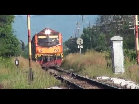 รถไฟไทย สายใต้: Alstom ซิ่ง! ทำ ข.176 ผ่านสถานีรถไฟคลองทราย