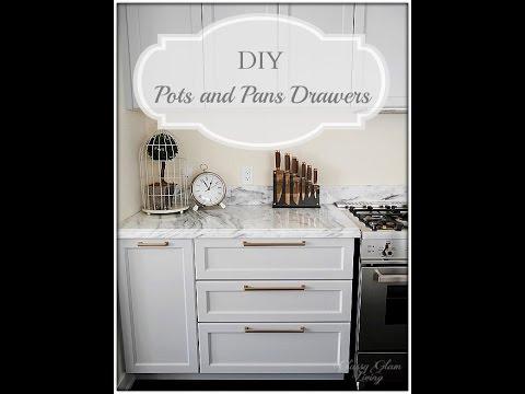 diy pot and pans drawers