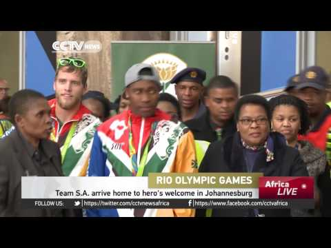South Africa's Olympic team arrives home to hero's welcome in Johannesburg