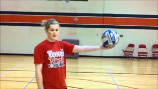 Sheridan Burgess Volleyball Serving Tutorial