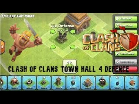 Clash Of Clans Town Hall 4 Defence(BEST Town Hall 4 Base!)
