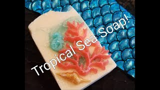 How I line my tall skinny soap mold, and Making Tropical Sea Soap!