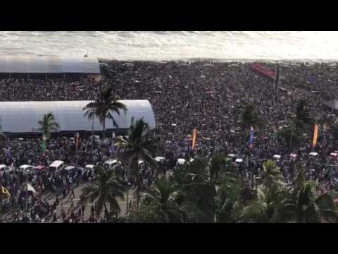 May Day Rally of the Podujana Peramuna led by the Joint Opposition at Galle-Face