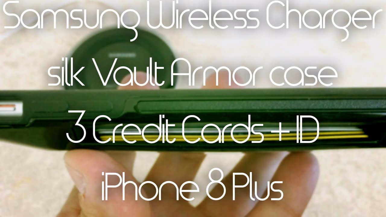 buy popular 9818e e422c iPhone 8 Plus WIRELESS CHARGING Through Thick Wallet Case & Credit Cards