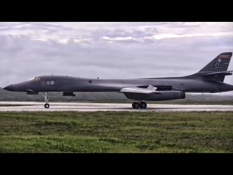 B-1 Bombers Arrive At Andersen AFB In Guam
