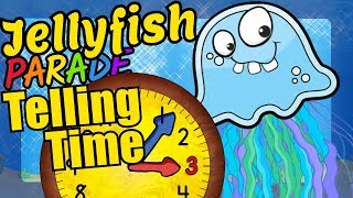 Jellyfish Teaching How to Tell Time on a Clock Educational Video for Kids
