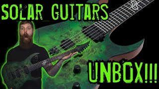 Unboxing My New Solar Guitars S1.6 HLB!!! New Guitar Day!!!