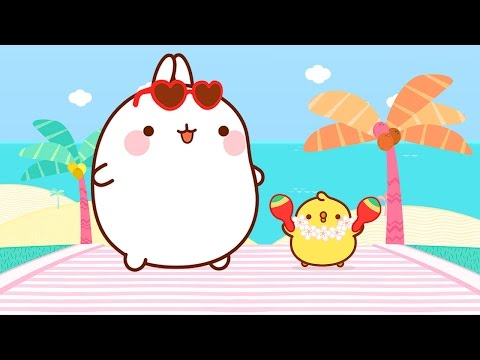 Molang and Piu Piu on Vacation  Cartoons for kids