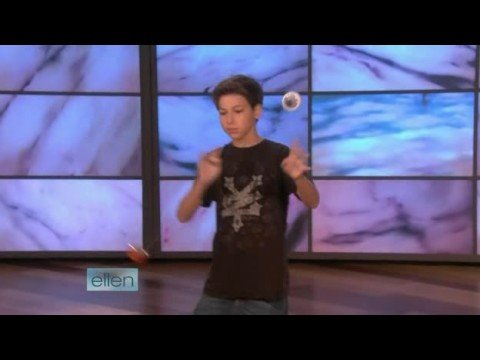 Yo-Yo Player Grant Johnson on Ellen 09/15/08