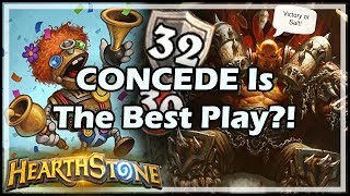 CONCEDE Is The Best Play?! - Boomsday / Constructed / Hearthstone