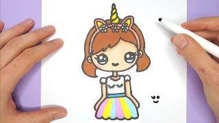 unicorn easy draw drawings happy super beginners myhobbyclass