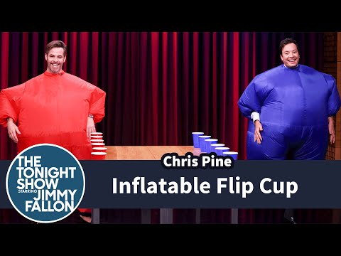 Inflatable Flip Cup with Chris Pine