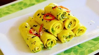 Pressure Cooker Khandvi Video Recipe by Bhavna | Quick & Easy
