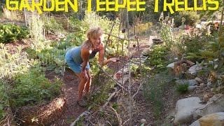 Back To Eden Garden:How To Build A Garden Trellis