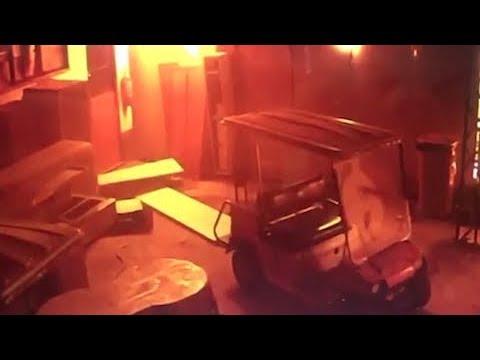 Momento do incêndio em CT do Flamengo é registrado por câmera de segurança