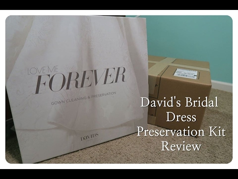 David's Bridal Gown Preservation Kit Review