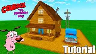 """Minecraft Tutorial: How To Make Courage The Cowardly Dogs House """"Courage The Cowardly Dog"""""""