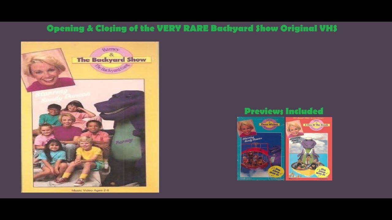 Barney: Backyard Show Very Rare Original VHS Opening ...