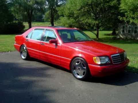 Mercedes w140 s500 s class red amg aero style 19 chrome for Mercedes benz s550 rims for sale